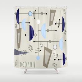 Mid-Century Modern Atomic Era Shower Curtain