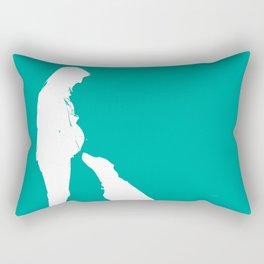 First child baby art print Rectangular Pillow