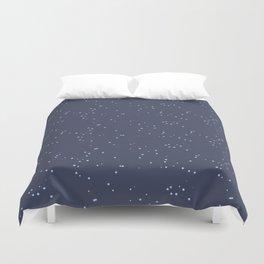 Dark Gray Blue Shambolic Bubbles Duvet Cover