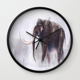 Mammuthus Primigenius Finished Wall Clock