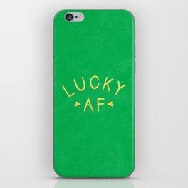 Lucky AF iPhone Skin