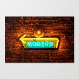 Modern Neon Sign - Contemporary Architectural Art Canvas Print