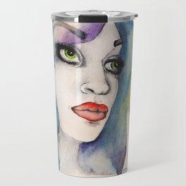 happily watercolored Travel Mug