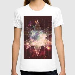 Galaxy Sacred Geometry : Stellated Icoshadron Warmth T-shirt