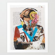 man of action - b-side Art Print
