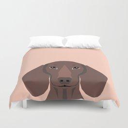 Remy - Daschund hipster dog, doxie, weiner dog, wiener dog,  Duvet Cover