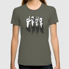 Hands of Love Womens Fitted Tee Lieutenant LARGE