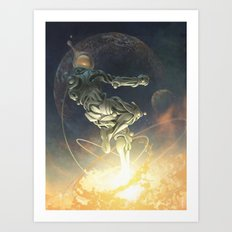 Cosmic Leap Art Print