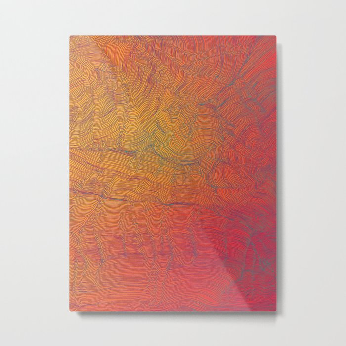 Auric Waves Metal Print