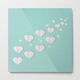 AFE Paper Hearts Metal Print