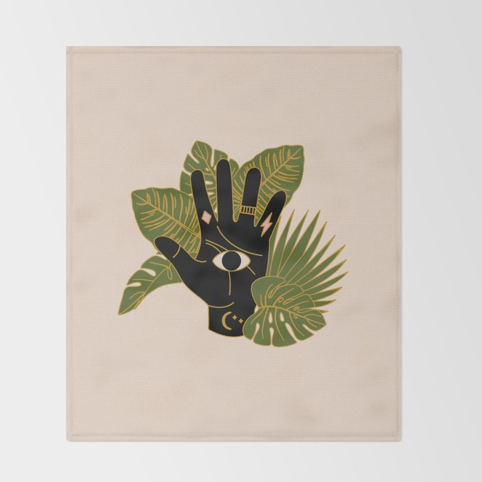 Mystic Hand Throw Blanket