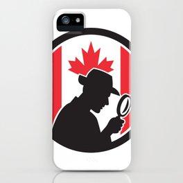 Canadian Private Investigator Canada Flag Icon iPhone Case