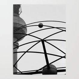 Weltzeituhr Fernsehturm Poster
