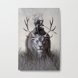 A Boy and his Beast Metal Print