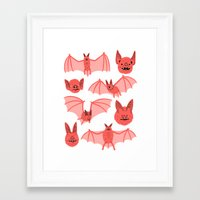 bats Framed Art Prints featuring Bats by Jack Teagle