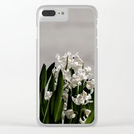Hyacinth background Clear iPhone Case