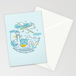 GVVT - Line art colors version Gruppo Volo a Vela Ticino Stationery Cards