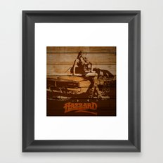 Hazzard Wood Framed Art Print