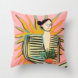 SUN POWER Throw Pillow