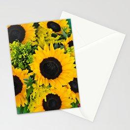 Beautiful yellow sunflowers Stationery Cards