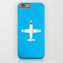 X-1 Mach Buster Rocket Aircraft - Cyan iPhone Case