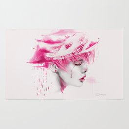 Head Up In The Clouds (pink ver.) Rug