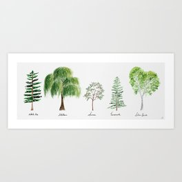 Trees for the Manor (dedicated to long-term care)  Art Print