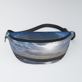 Dutch polder view with beautiful clouds Fanny Pack