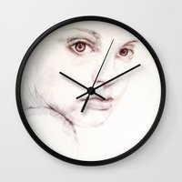 sketch Wall Clocks featuring Sketch by Candice PerryMoen
