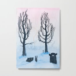 Twisty Forest Critters Metal Print