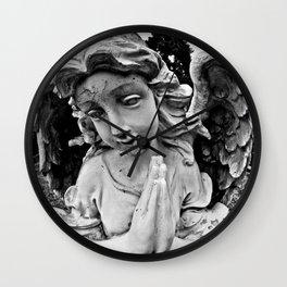 Cracked angel Wall Clock