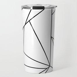 Abstract Modern Black White Trendy Geometrical Travel Mug