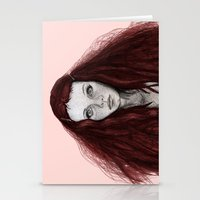 redhead Stationery Cards featuring Redhead by AParry