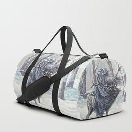 Wizard Riding an Elk in the Snow Duffle Bag