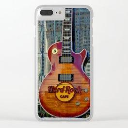 Hard Rock Guitar Las Vegas America Clear iPhone Case