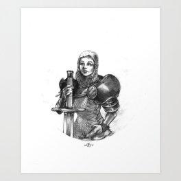 Knighted Art Print