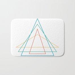 4 triangles Bath Mat