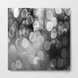 Bokeh Light In Black And White #decor #society6 Metal Print