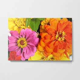 Farmer's Market Flowers Metal Print