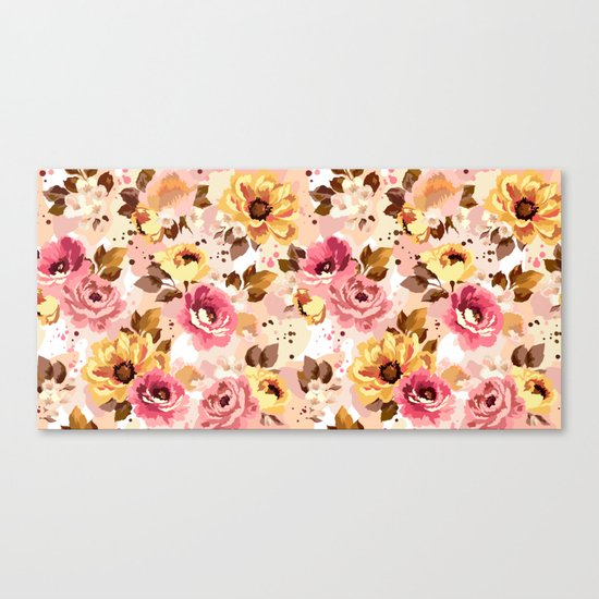 Pattern Flowers 01 Canvas Print