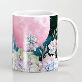 succulent full moon 3 Coffee Mug