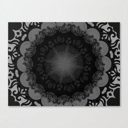 Dark Mandala #1 Canvas Print