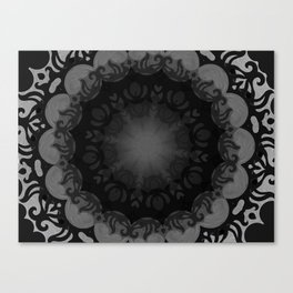Dark Mandala #1 Canvas Print