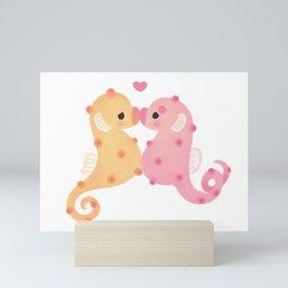 Pygmy seahorses Mini Art Print