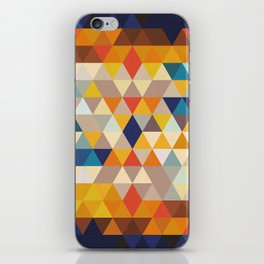 Geometric Triangle - Ethnic Inspired Pattern - Orange, Blue iPhone Skin