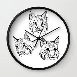 Irish Bobcat Trio Wall Clock