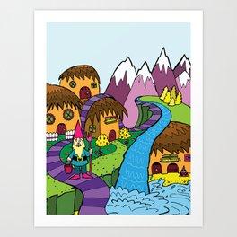 GnomeLand Art Print