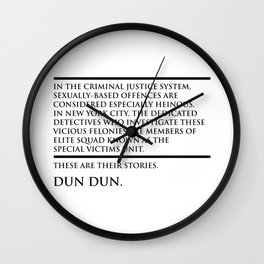Law and Order Wall Clock