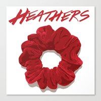 heathers Canvas Prints featuring Heathers Scrunchie Poster by tangofox