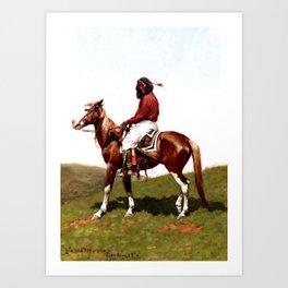 "Western Art ""Comanche Brave"" by Frederic Remington Art Print"